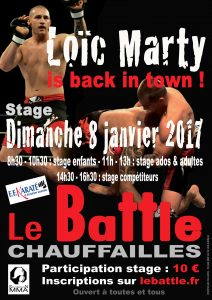 Stage MMA inscriptions